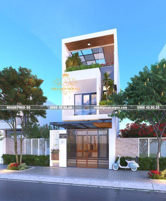 Phối Cảnh Mẫu Nhà Đẹp Mới Sài Gòn-np24
