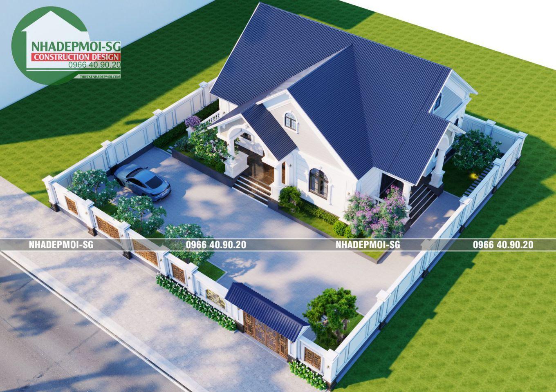 Mẫu Biệt Thự Mái Thái 1 Tầng 30x30m2